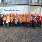 Die Teilnehmerinnen der Jahresabschlussfahrt nach der Besichtigung der Nordzucker AG in Clauen